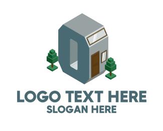 Construction - Modern Building Letter O logo design