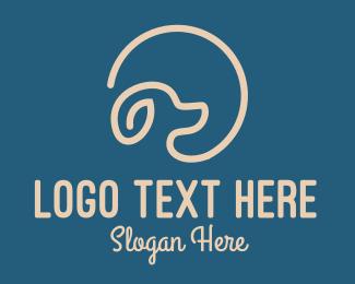 Pet Store - Pet Dog Circle logo design