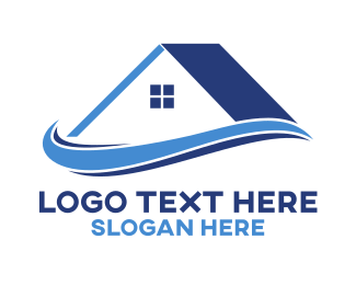 Roof - House Roof Realty  logo design