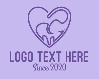 Zoo - Elephant Love logo design