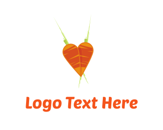 Carrot - Carrots Heart logo design