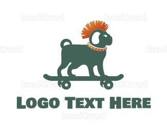 Fest - Skateboarding Dog logo design