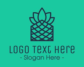Pineapple - Minimalistic Pineapple logo design