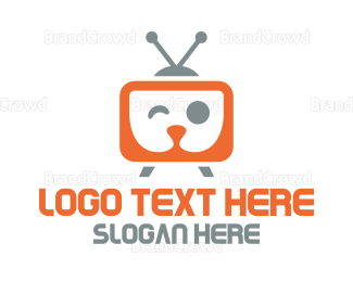 Breeder - Orange TV Puppy logo design