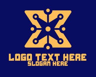 Digital Printing - Yellow Digital Star logo design