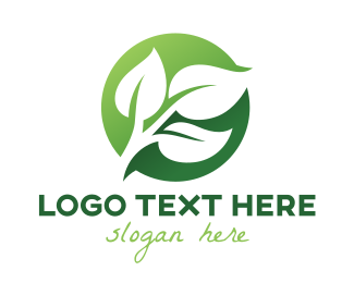 Relaxation - Green Leaf Circle logo design