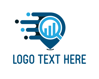 Magnifying Glass - Financial Search logo design