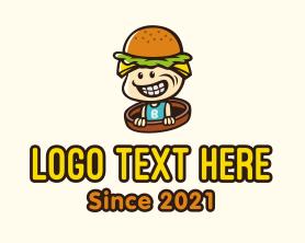 Geek - Burger Kid Mascot logo design