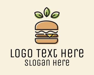 Vegan - Vegan Leaf Hamburger logo design