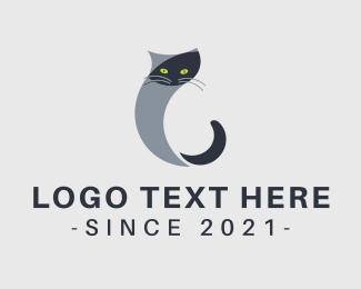 Cat Food - Cat Letter C logo design
