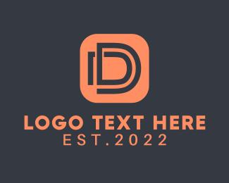 App - Letter D App logo design