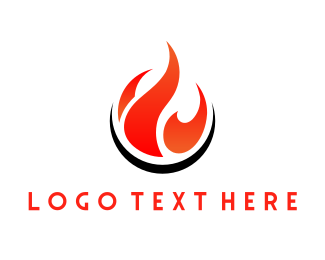 Torch - Red Flame logo design