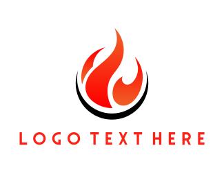 Heat - Red Flame logo design