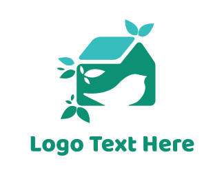 Homestead - Blue Birdhouse logo design