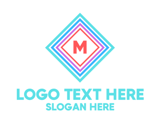 """""""Multicolor Square Lettermark"""" by BrandCrowd"""