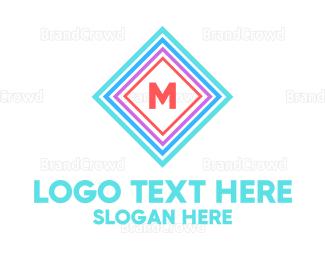 Multicolor - Multicolor Square Lettermark logo design