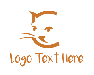 Leopard - Cat Face logo design