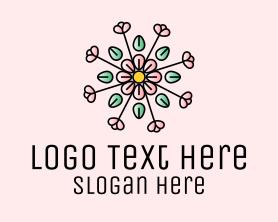 Beauty - Spring Flower Pattern logo design