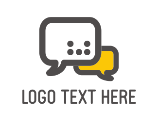 Connect - Speech Bubbles logo design