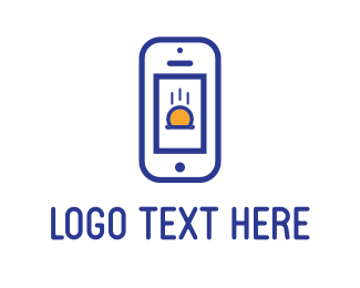Coin - Blue Phone logo design