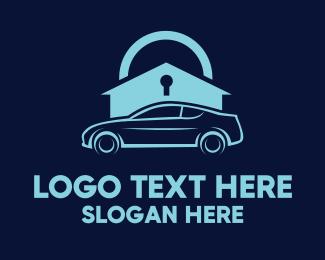 Insurance - Padlock & Car logo design