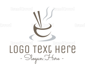 Soup - Minimalist Asian Bowl logo design