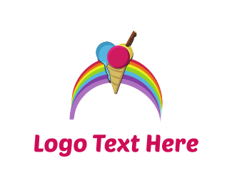 Chocolate - Rainbow Ice Cream logo design