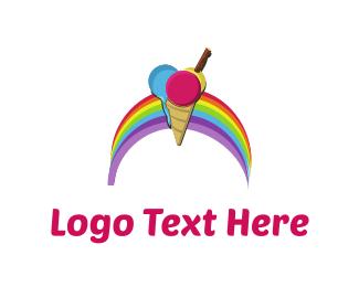 Tasty - Rainbow Ice Cream logo design