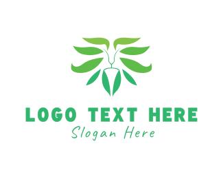 Plant - Lion Plant logo design