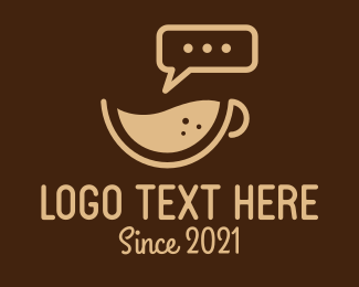 Coffee Delivery - Brown Coffee Talk logo design