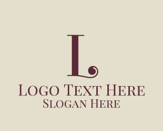 Vogue - Yellow Curly R logo design