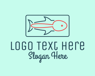 Fish Restaurant Outline  Logo