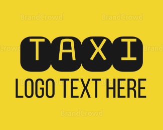 Black And Yellow - Black & Yellow Taxi Text logo design