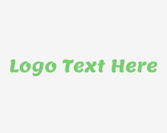 Modern Green Cool Wordmark Logo