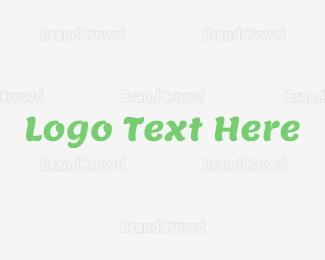 Typography - Modern Green Cool Wordmark logo design
