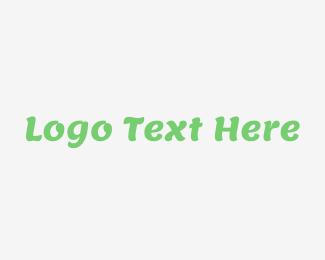 Kids - Modern Green Cool Wordmark logo design