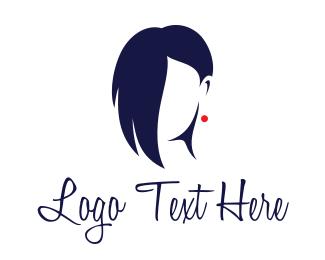 Hair Stylist - Female Hair Salon logo design