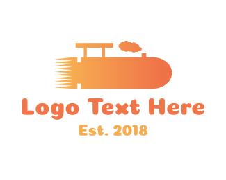 Train - Bullet Train logo design