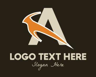 Letter - Antelope Letter A logo design