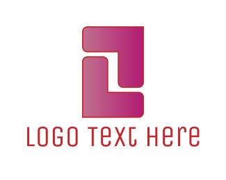 Rectangle - Pink Letter Z logo design