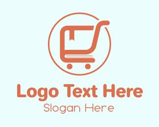 Education - Book Shopping Cart  logo design