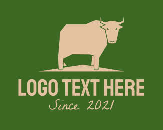 Food Store - Brown Farm Cow logo design
