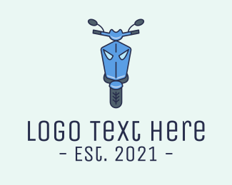Rental - Blue Motorcycle Scooter logo design