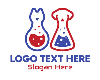Laboratory Flask - Veterinary Laboratory logo design