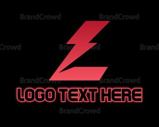 Letter L - Red Thunder Letter L logo design