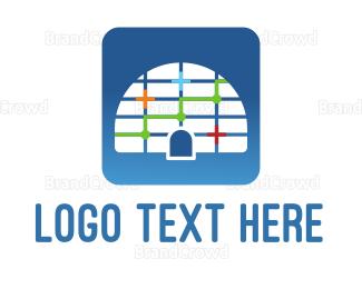 Antartica - Igloo Grid  logo design