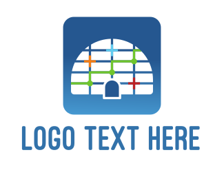 Graph - Blue Igloo logo design
