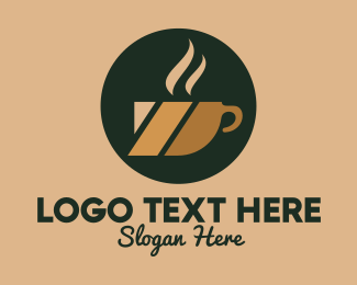 Cappucino - Hot Coffee Cup logo design