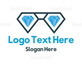 Sunglasses - Diamond Nerd logo design