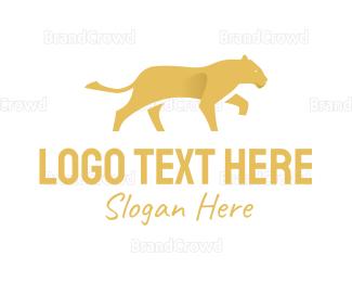 Aggressive - Yellow Lion logo design